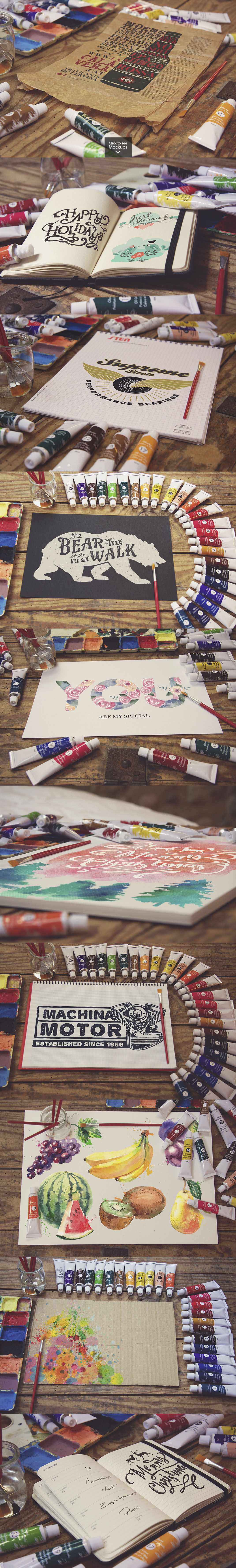 50 Art Mockups Bundle -60OFF example image 4