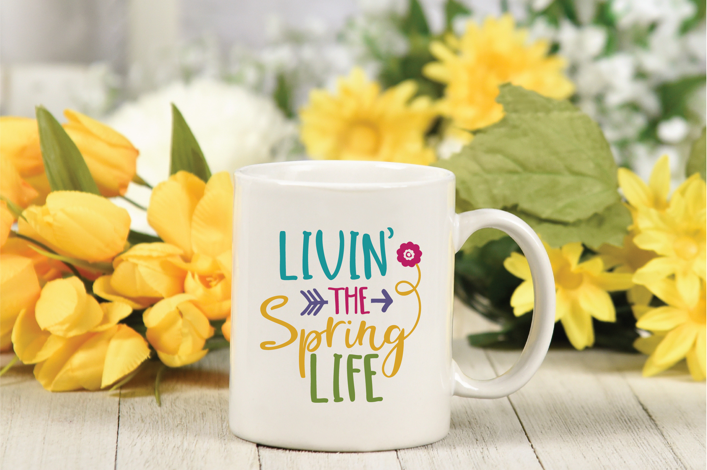 Livin' the Spring Life SVG Cut File - Spring SVG DXF EPS PNG example image 4