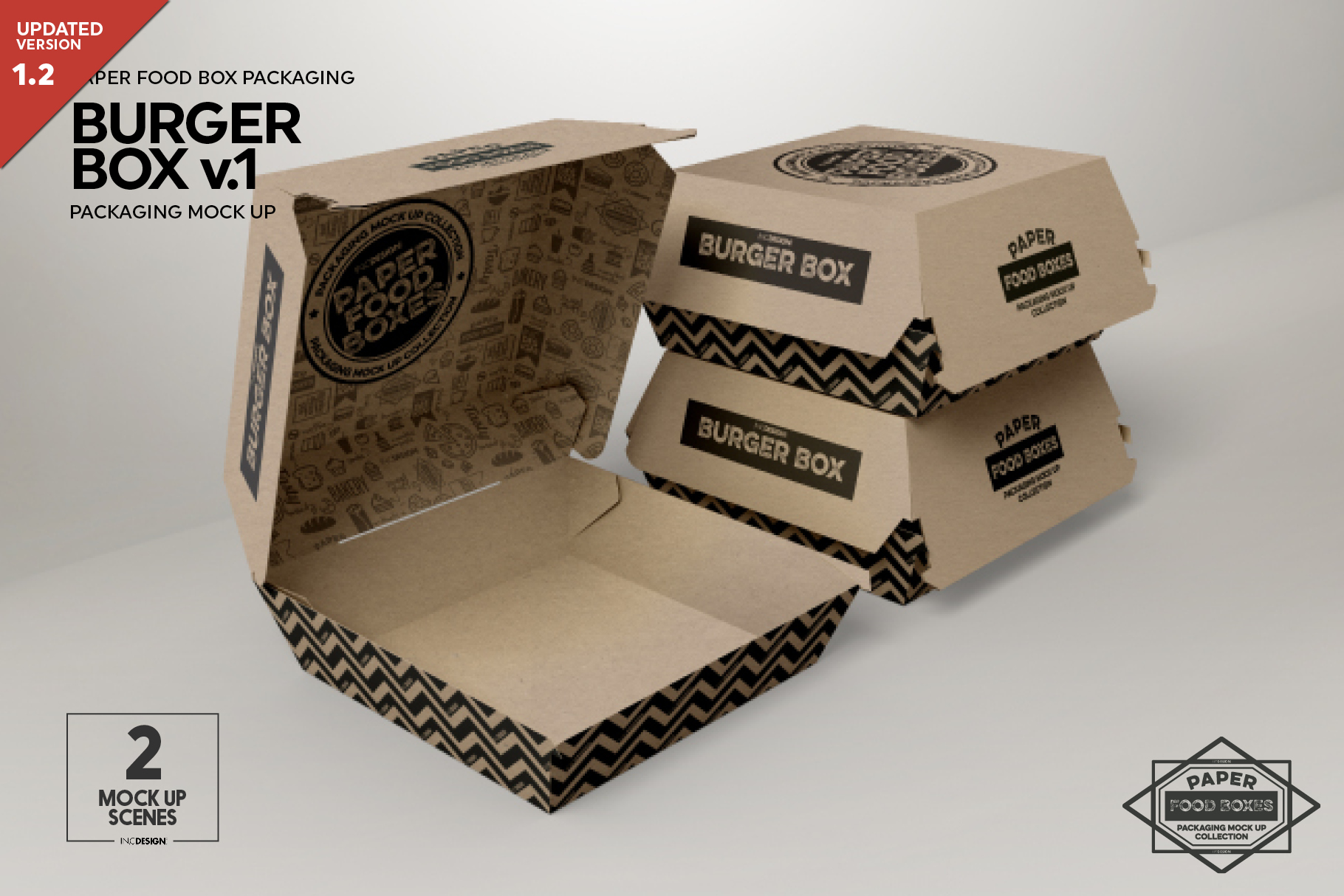 Burger Box Packaging Mock Up v1 example image 1