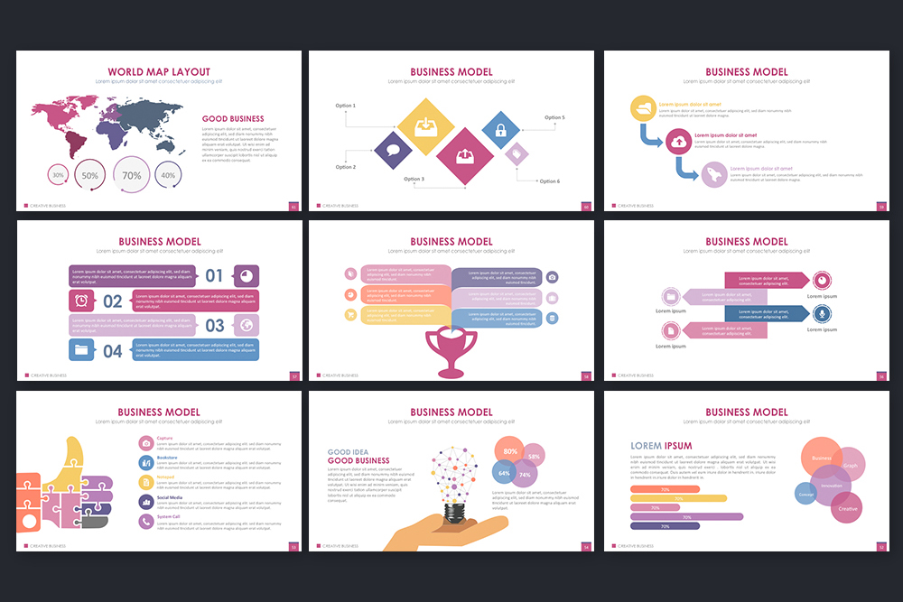 Creative Business Powerpoint Template example image 7