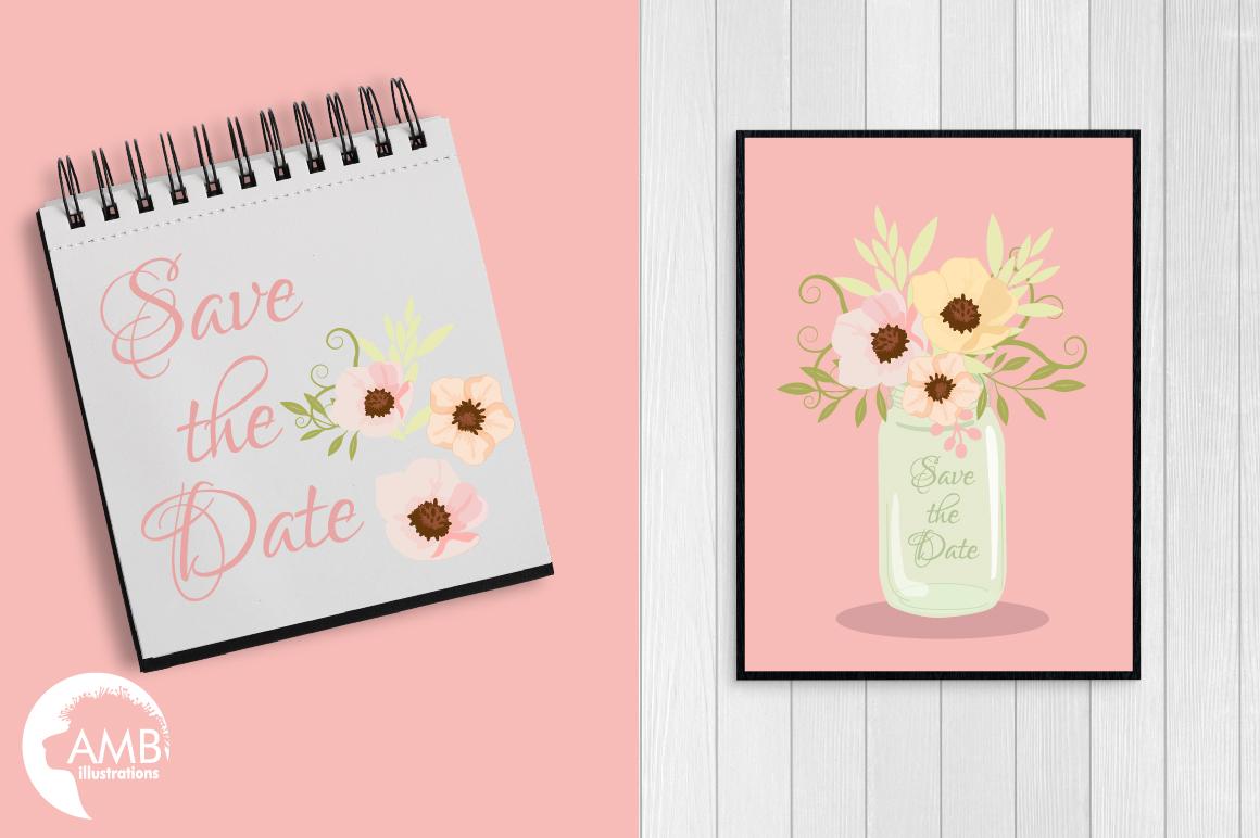 Mason Jar Wedding clipart, graphics, illustrations AMB-1031 example image 5