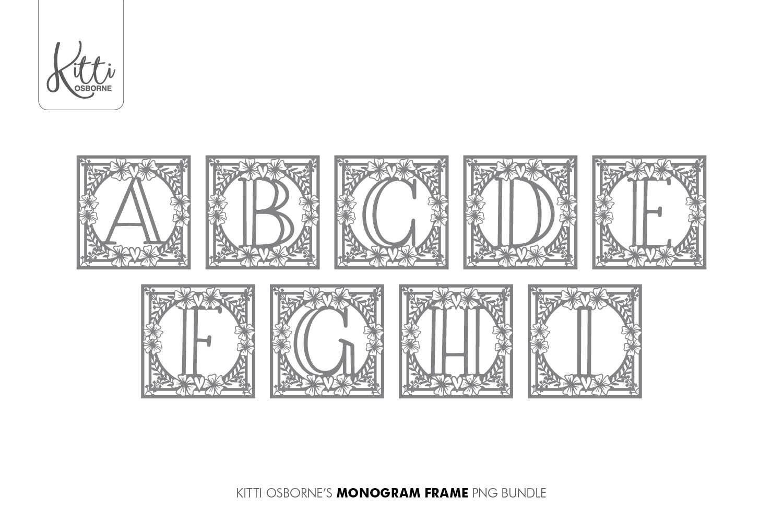 Alphabet Cut File Bundle SVG, PNG, PDF, DXF, JPEG example image 3