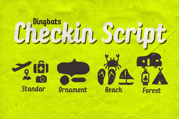 Checkin Dingbats example image 2