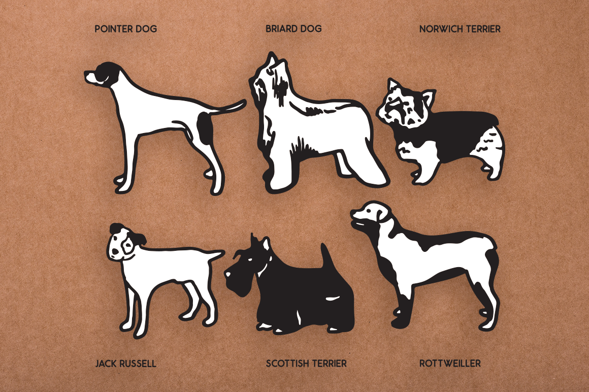 Dog Shapes SVG - Dog Doodles for Cricut example image 2
