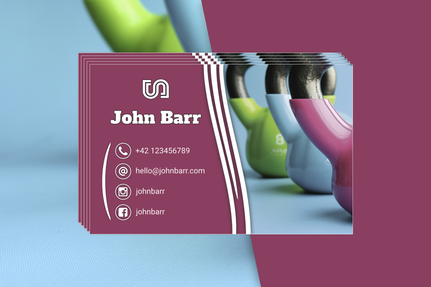 12 Sport Business Card Templates example image 9