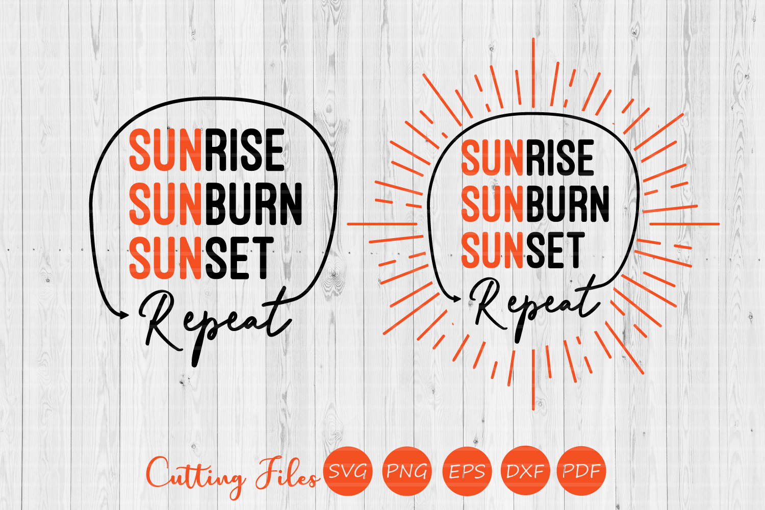 Sunrise sunset repeat| SVG Cut file | Summer |cricut | example image 1