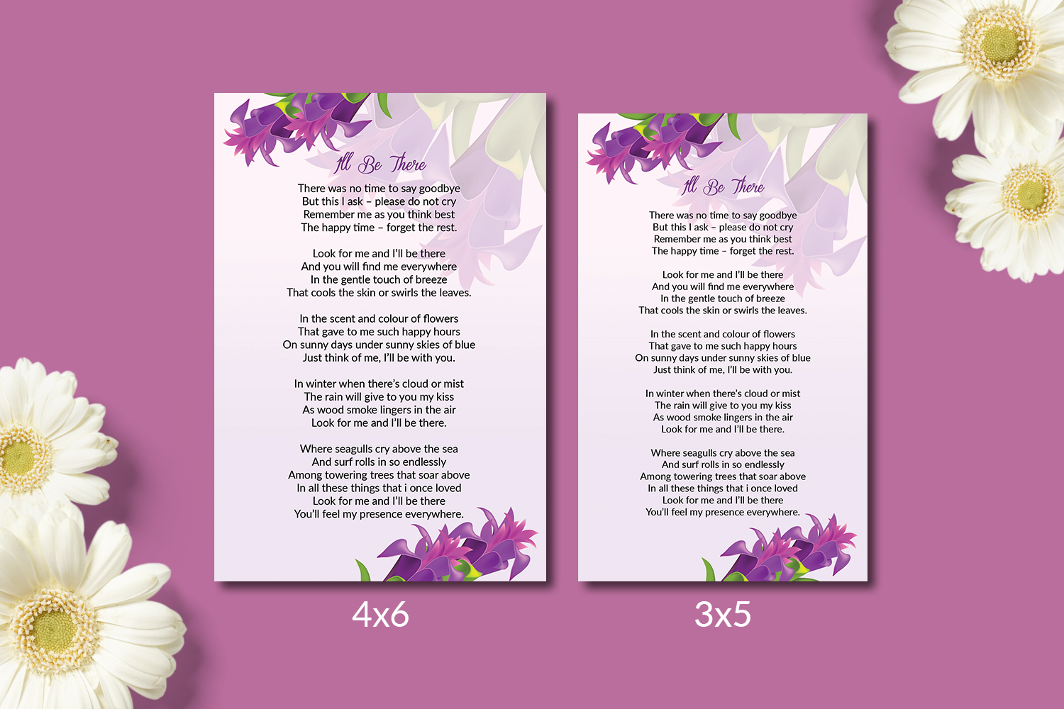 Funeral Prayer Card Template example image 2