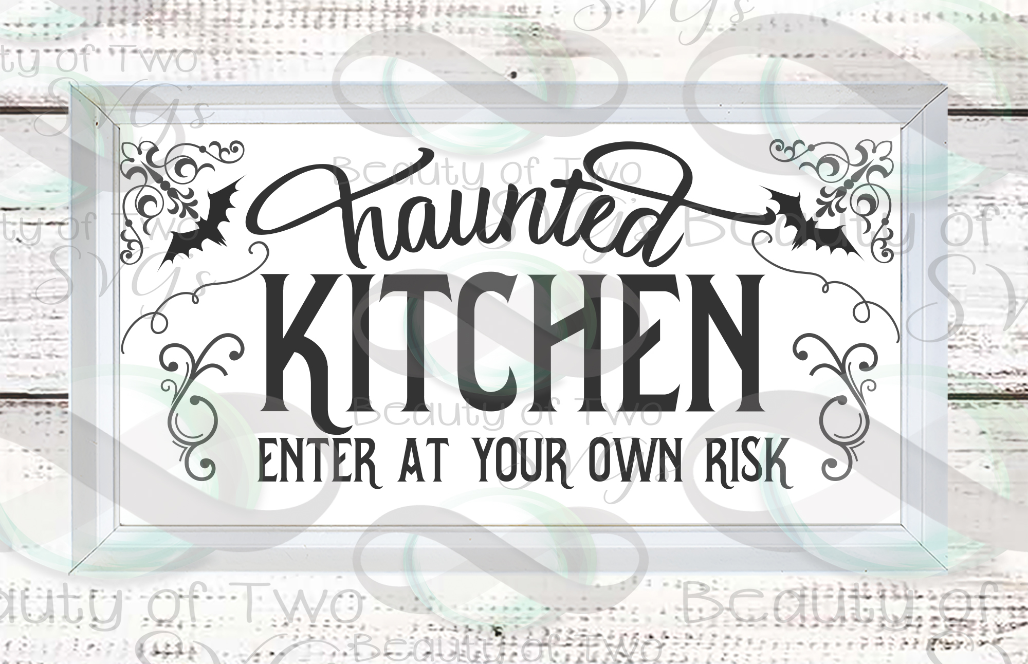Halloween svg sign design, Haunted kitchen svg, kitchen svg example image 2