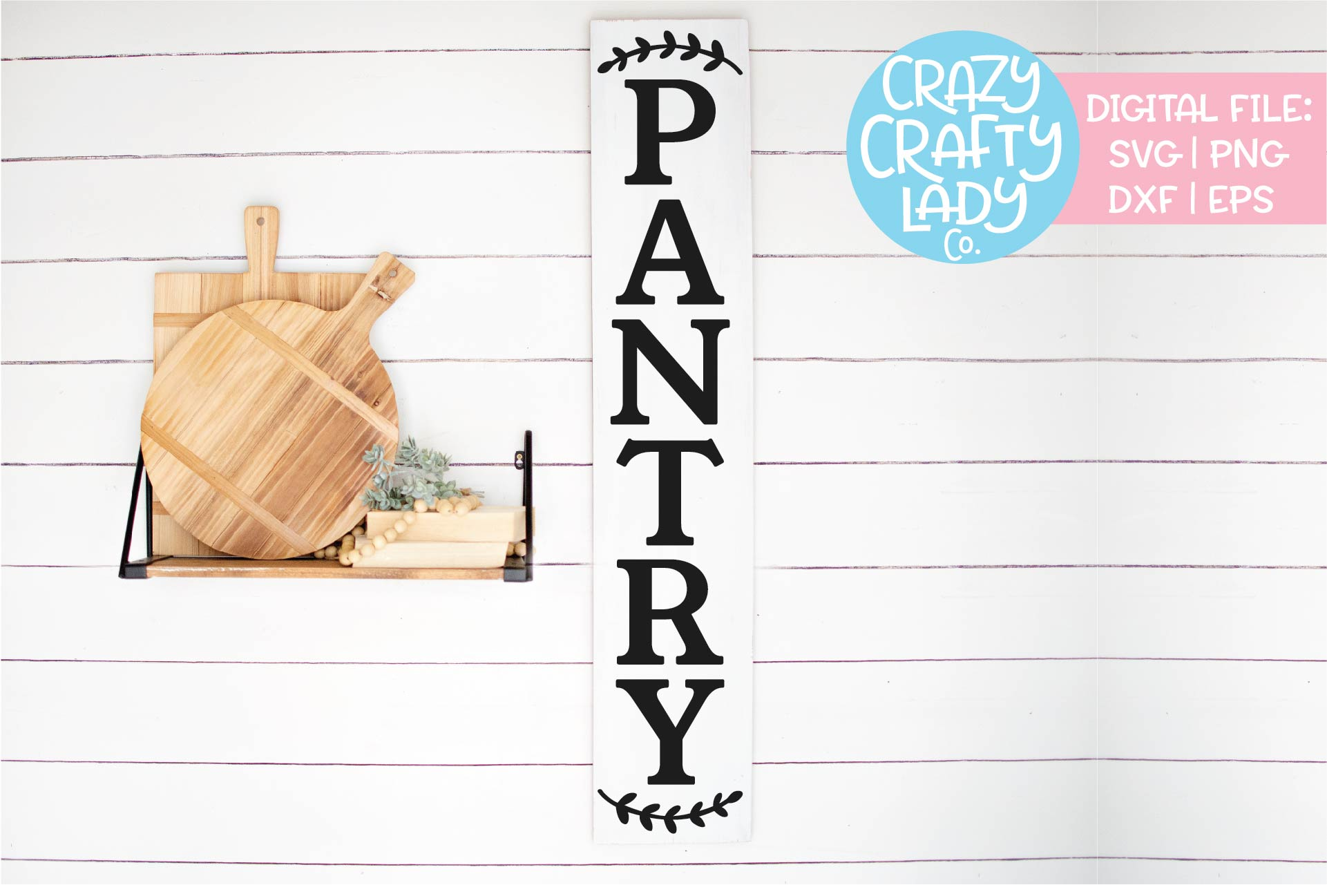 Vertical Pantry Sign Kitchen SVG DXF EPS PNG Cut File example image 1