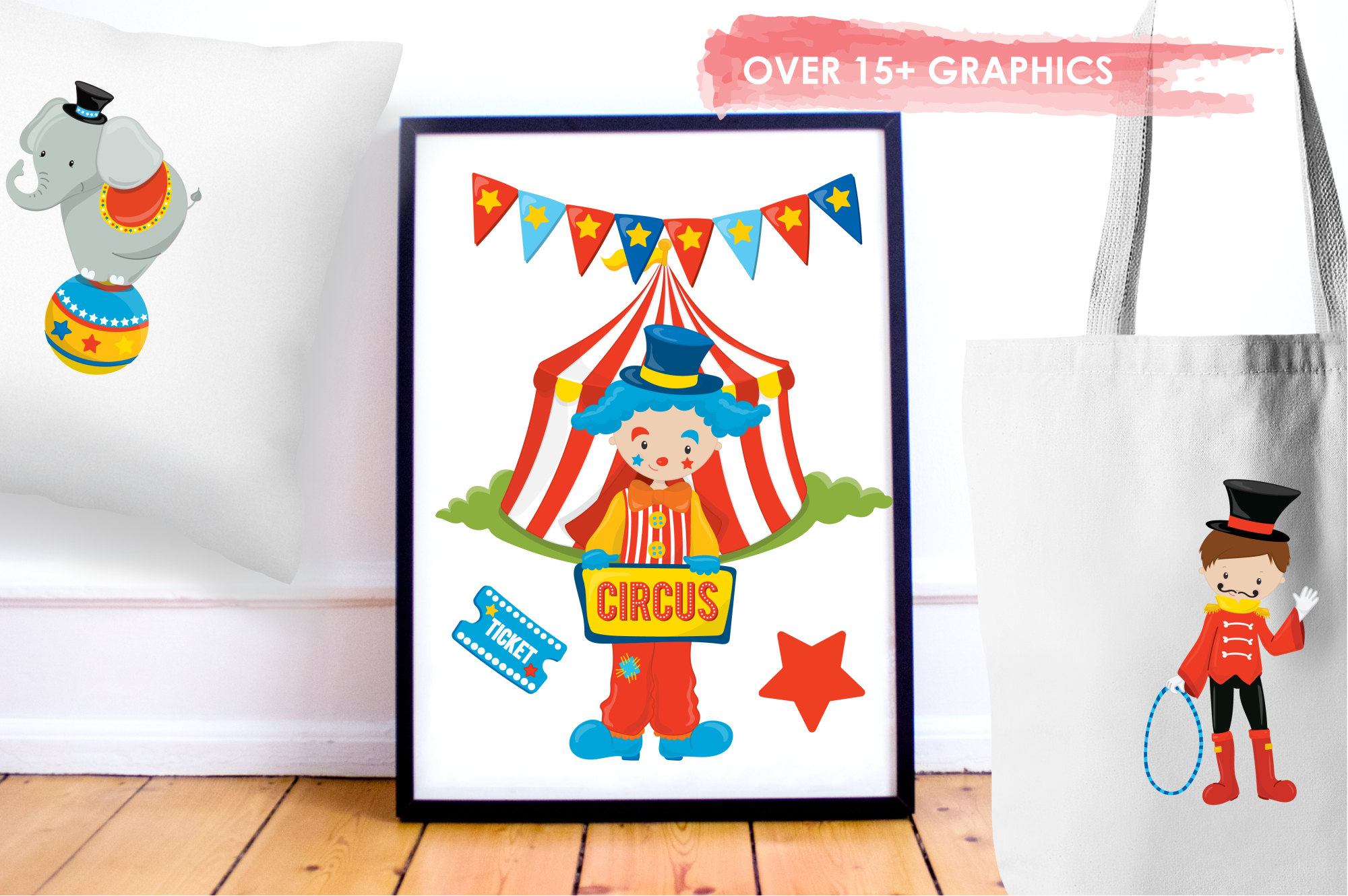 Circus Fun graphics and illustrations example image 5
