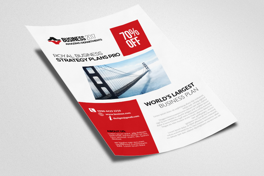 Bookkeeping & Accounting Services Psd Flyer Templates example image 2