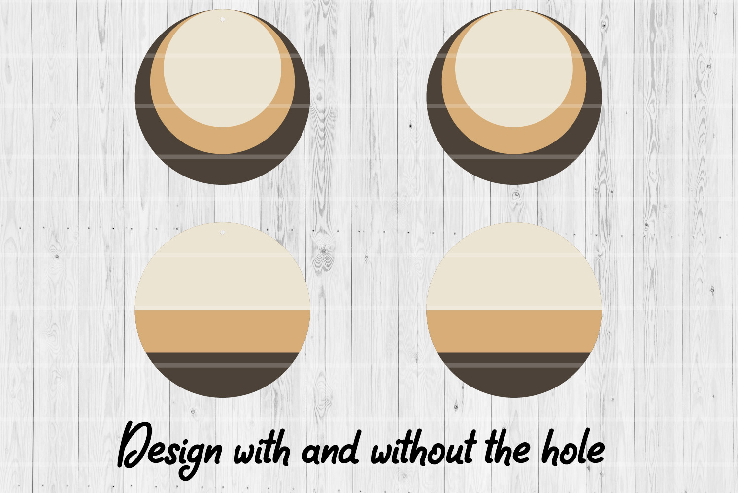Round Stacked Earrings   SVG cutting files   Commercial use  example image 2