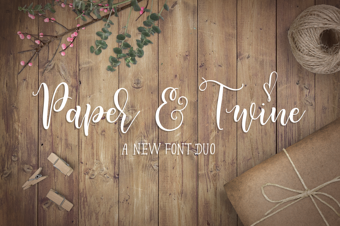 Paper & Twine Font Duo example image 1