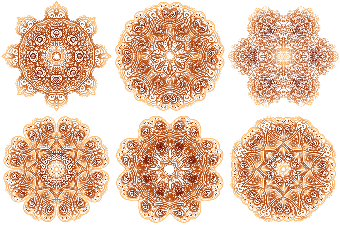 Set of 28 vintage round patterns example image 5