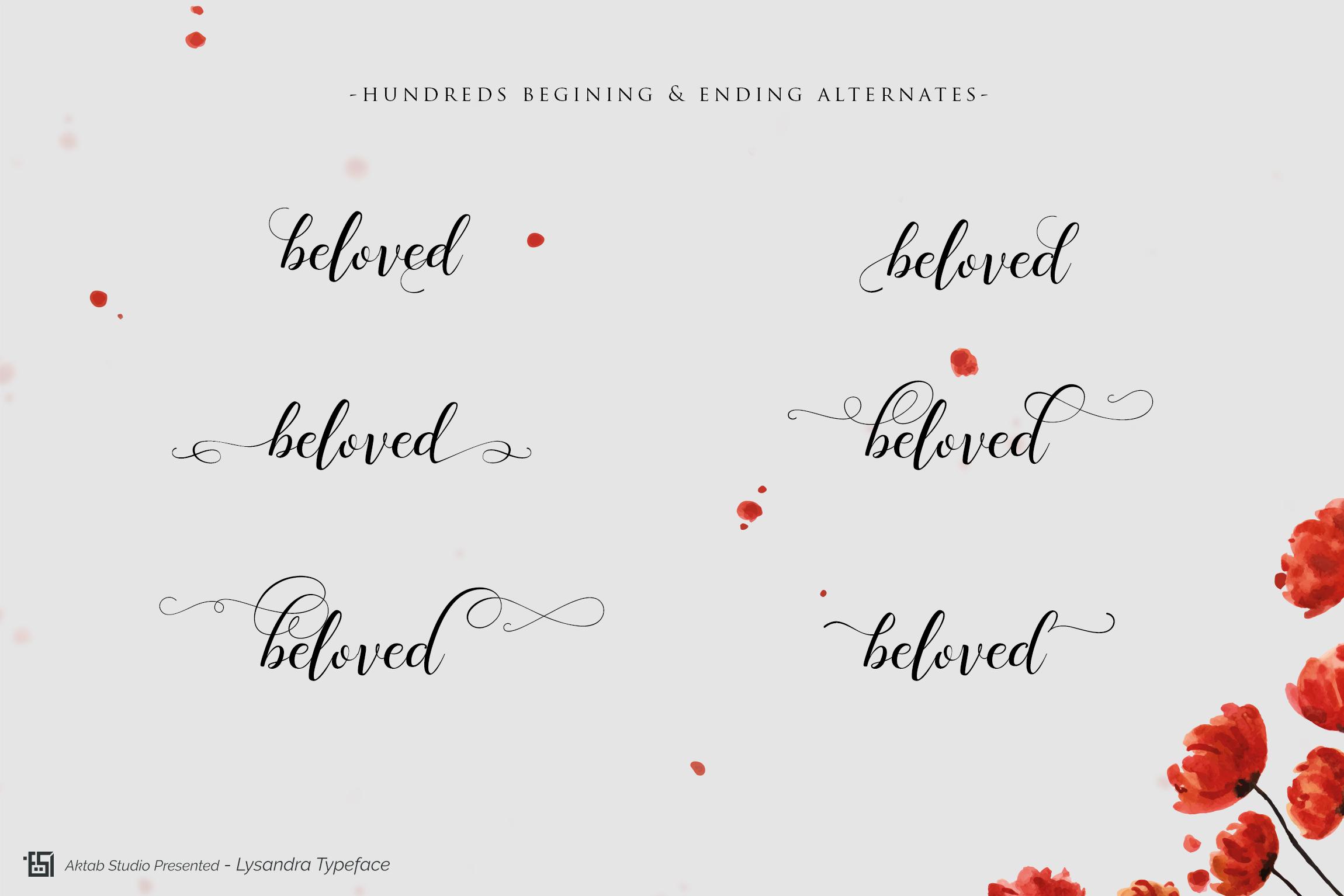 Lysandra Script Typeface example image 2