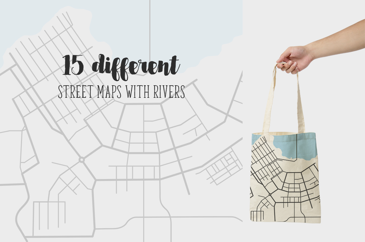 Street maps illustrations example image 2