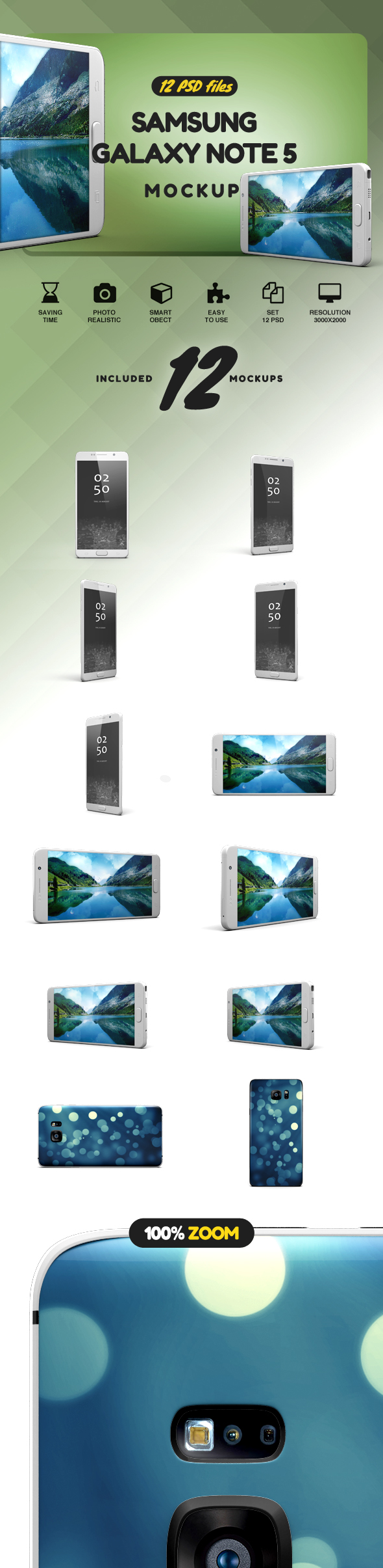 Samsung Galaxy Note 5 Mock-up example image 2