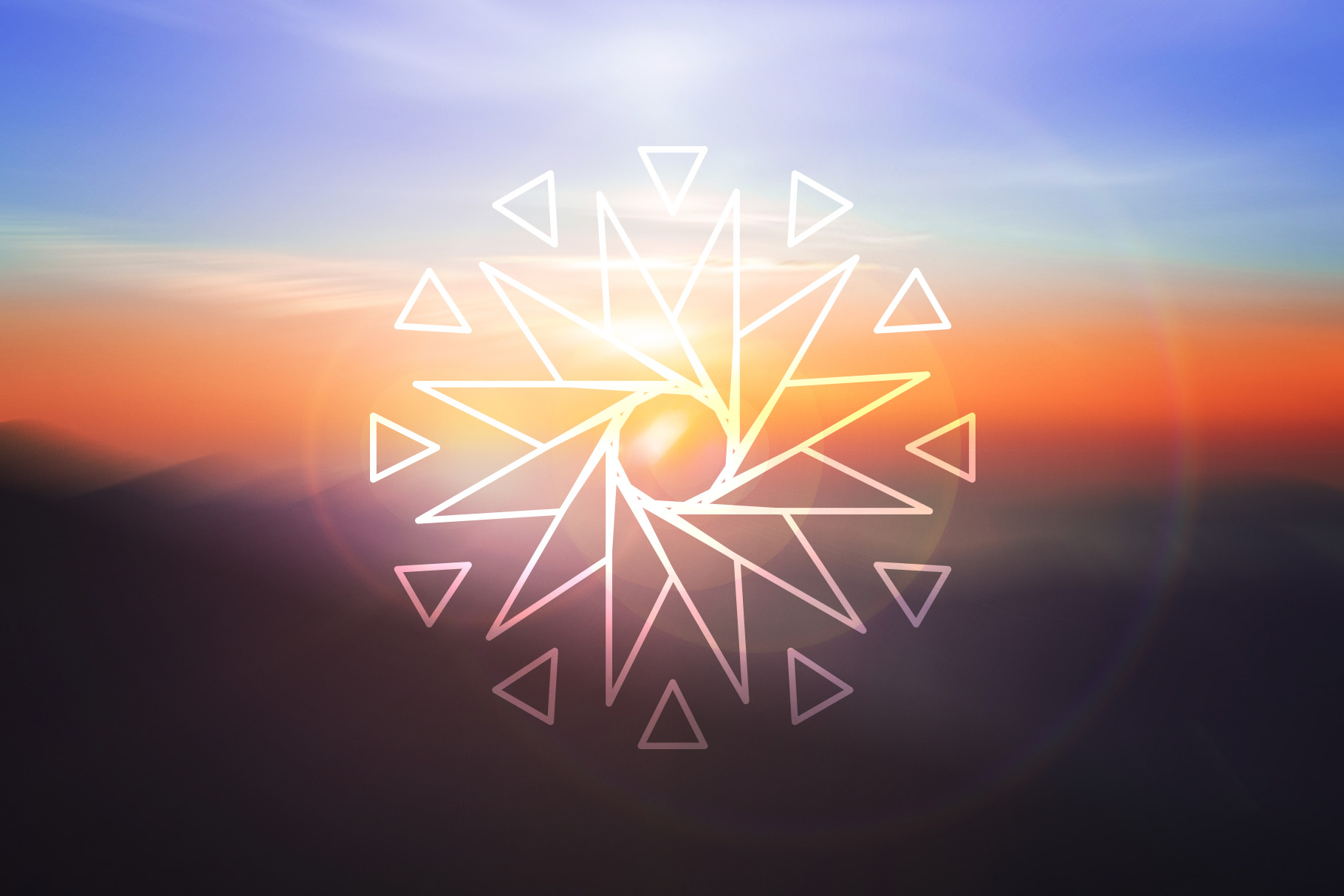 Sacred Geometry Vector Shapes Set example image 7