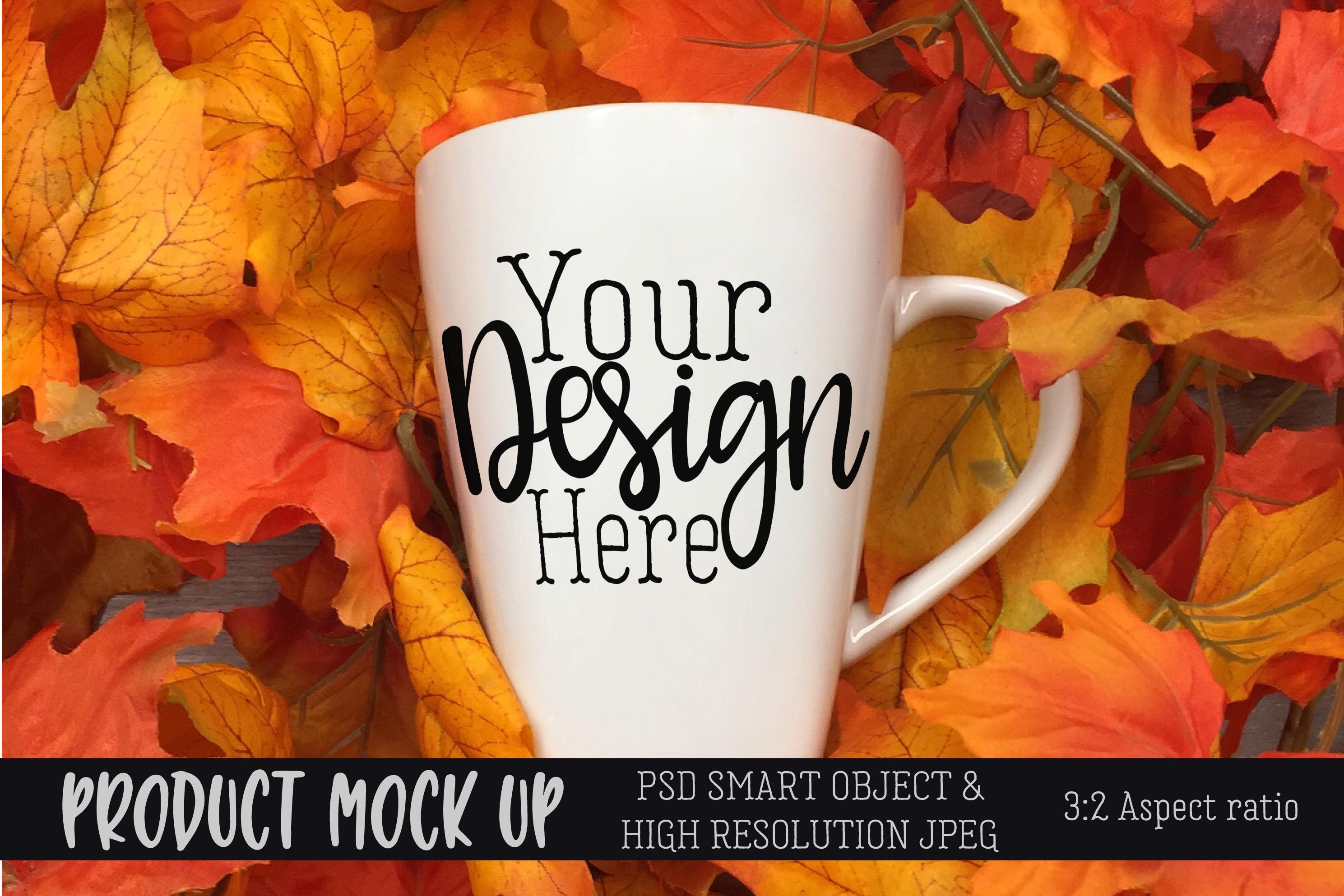 Fall mug Craft mock up | PSD & JPEG example image 1