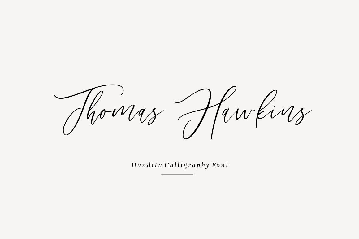 Handita - Calligraphy Font example image 3