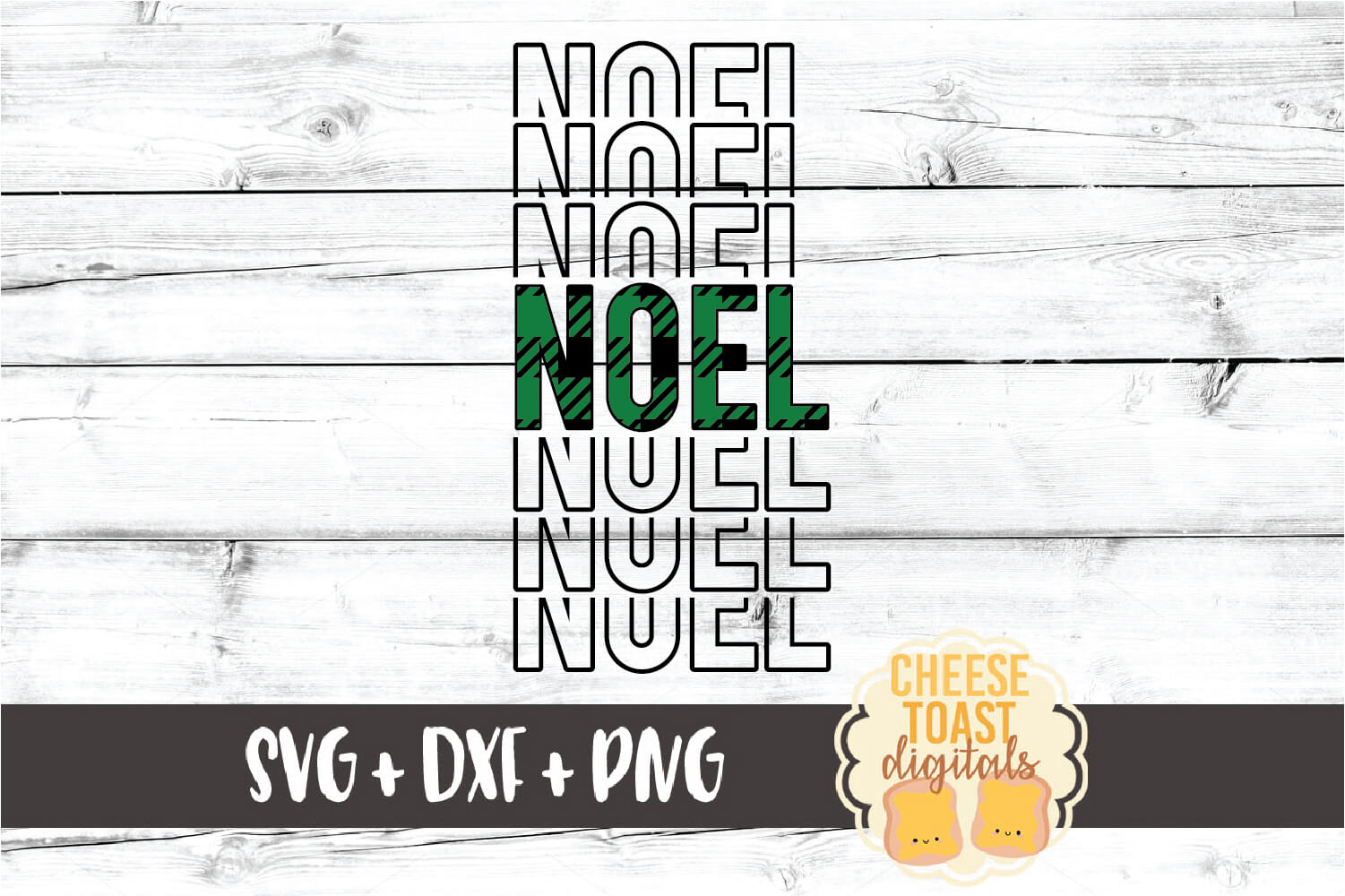 Noel - Buffalo Plaid Christmas Mirror Word SVG PNG DXF example image 2
