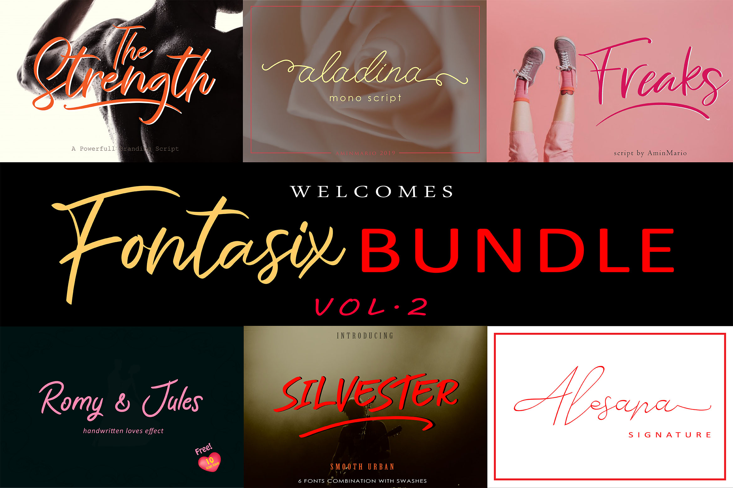 FONTASIX BUNDLE // VOL.2 example image 1