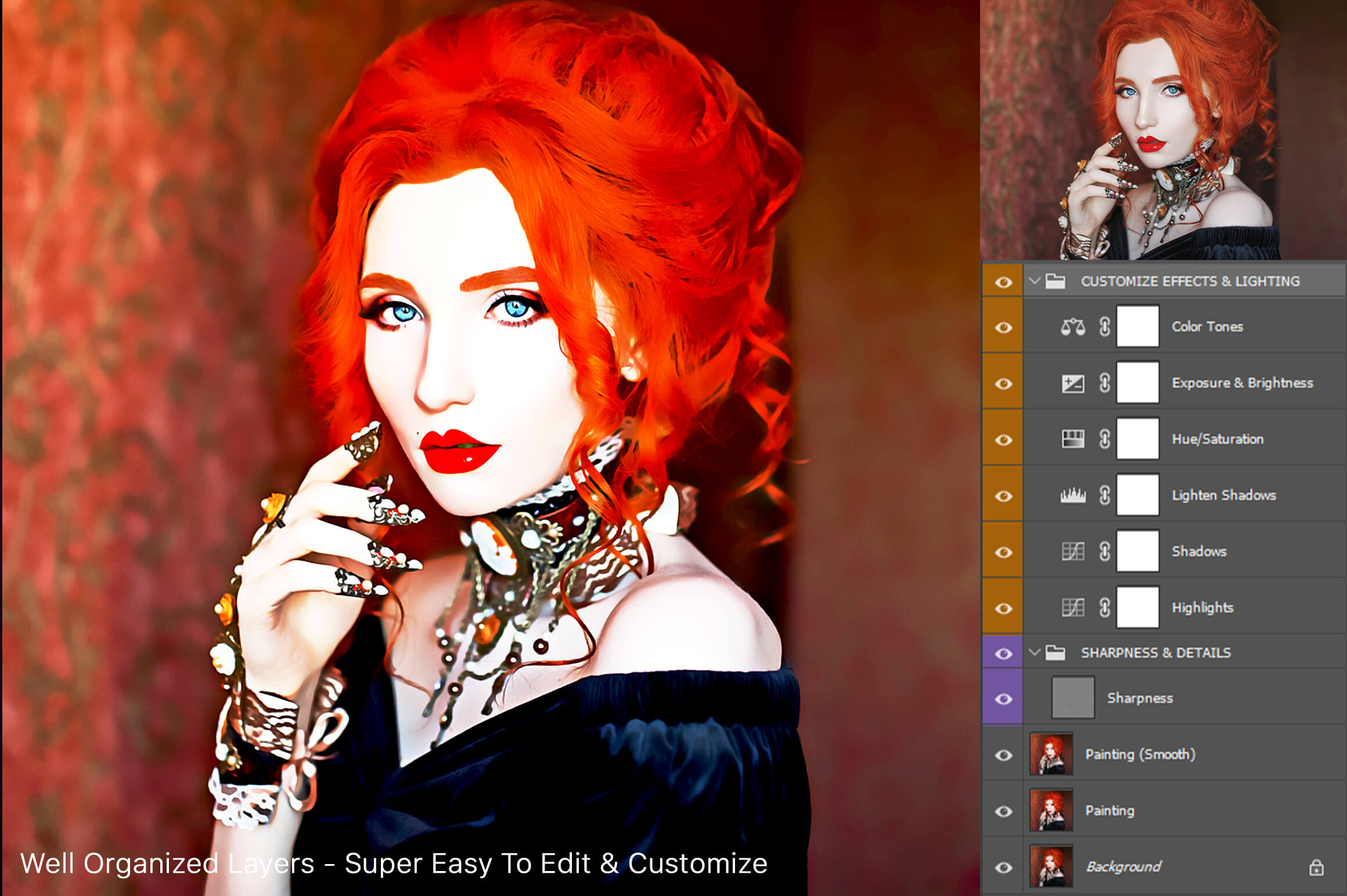 Artistic Painting Effect - Photoshop Action example image 7