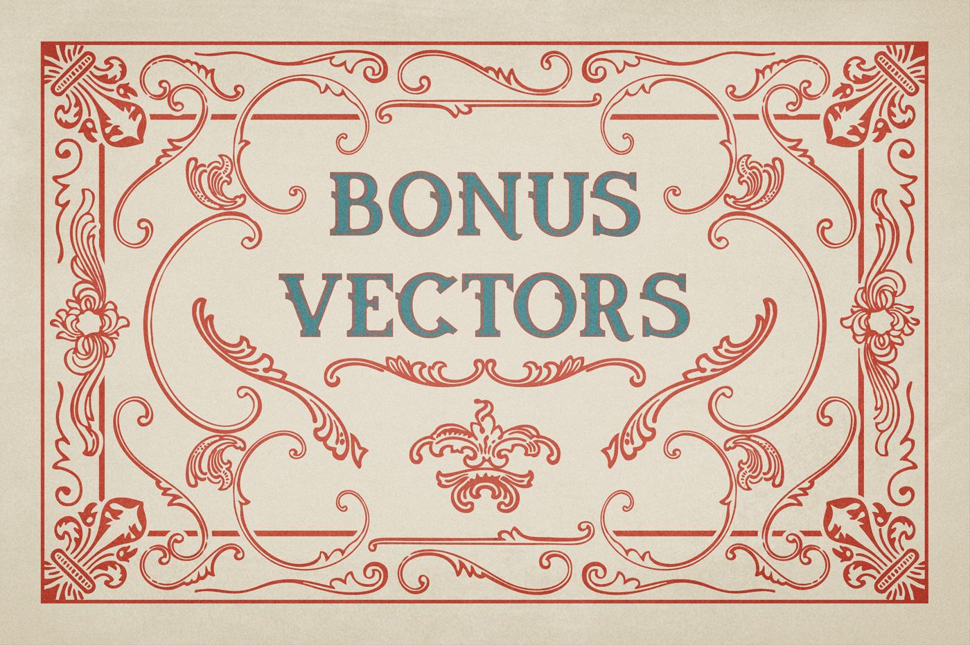 Oldser Typeface + Bonus Vectors example image 6