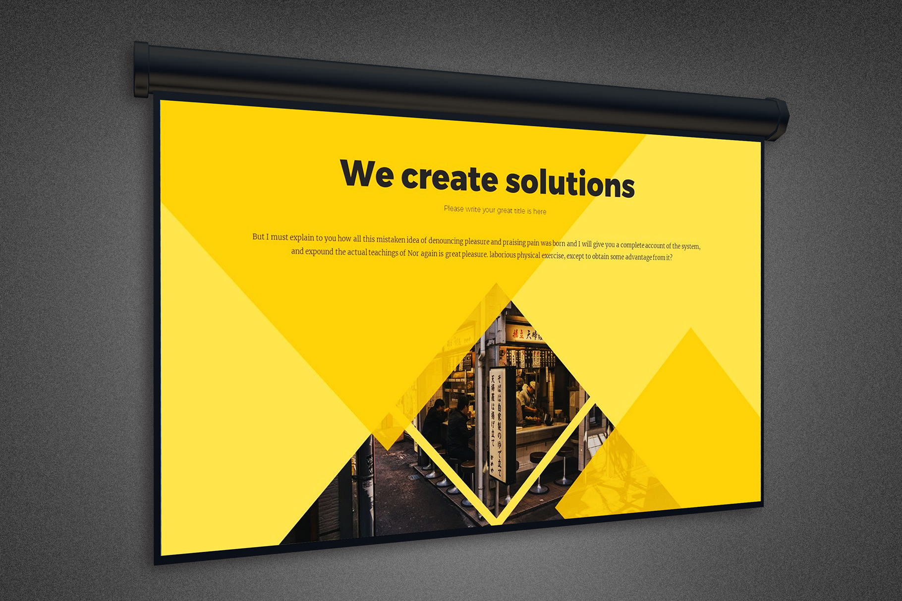Projector Screen Mockup Template example image 3