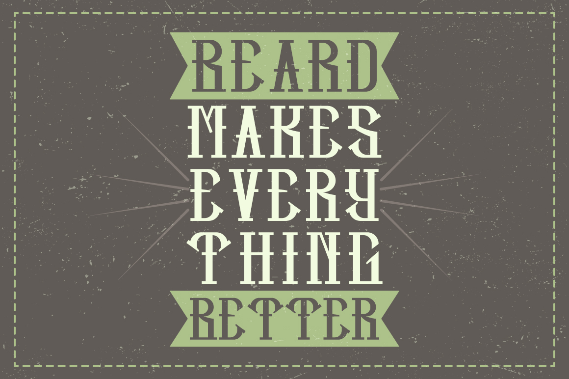 Hipster label typeface example image 5