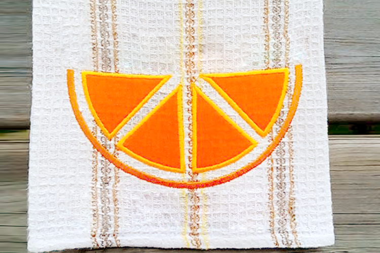 Citrus Slice Applique Embroidery Design example image 1