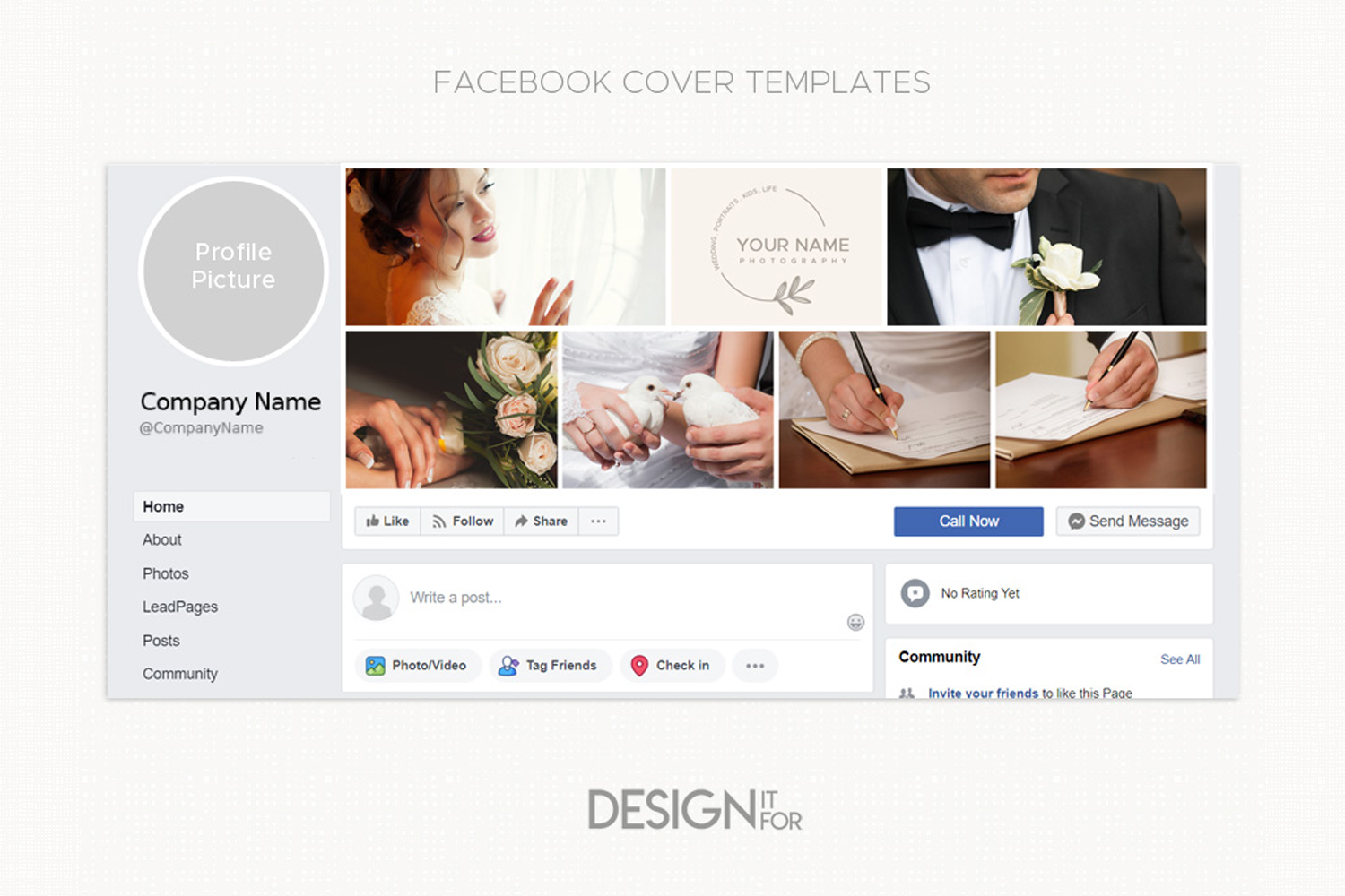 Collage Facebook Cover Template for Photographers example image 2