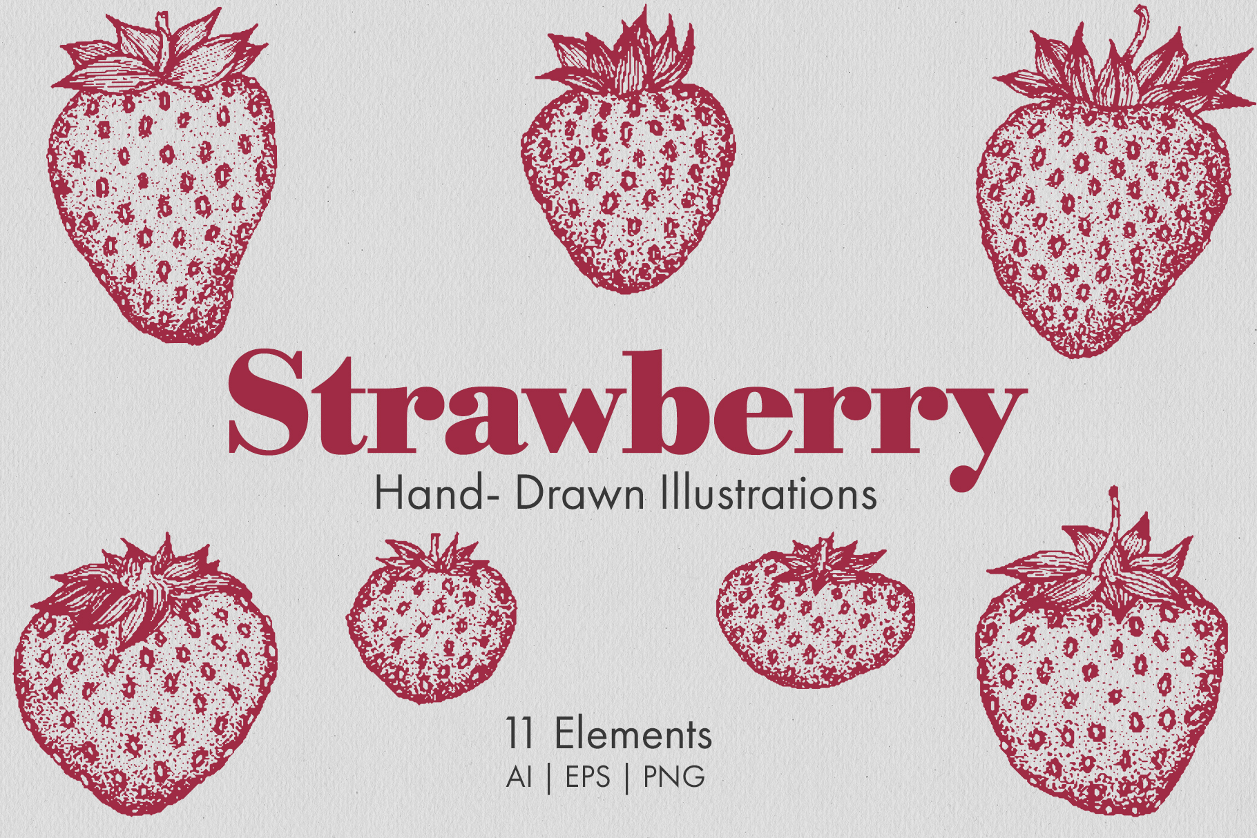 Strawberry Illustrations example image 1
