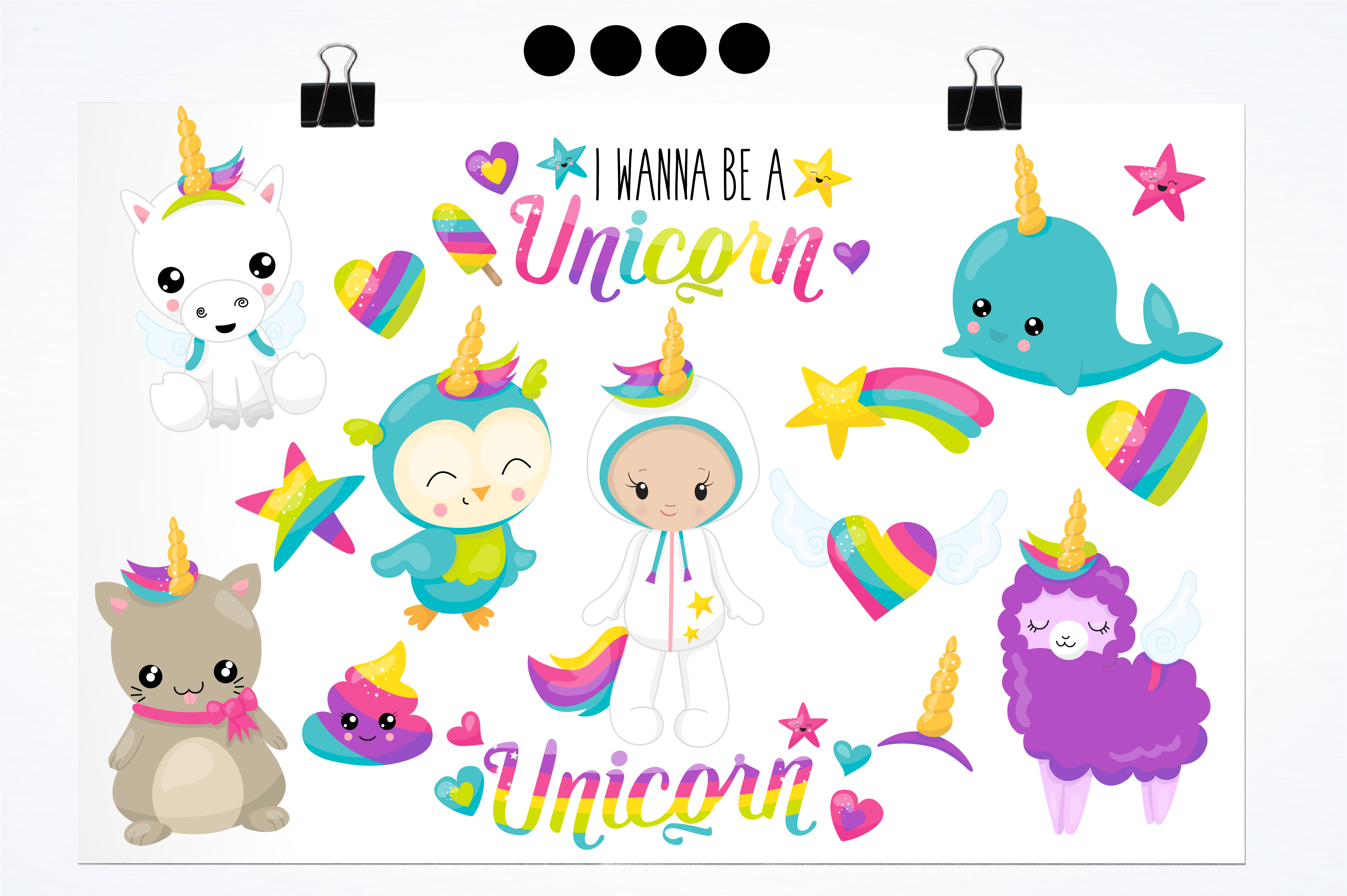 Wannabe unicorn graphics and illustrations example image 2