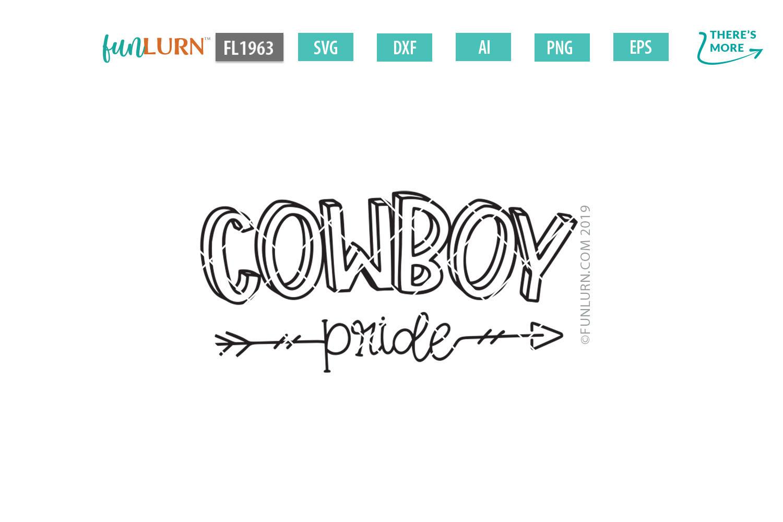 Cowboy Pride Team SVG Cut File example image 2