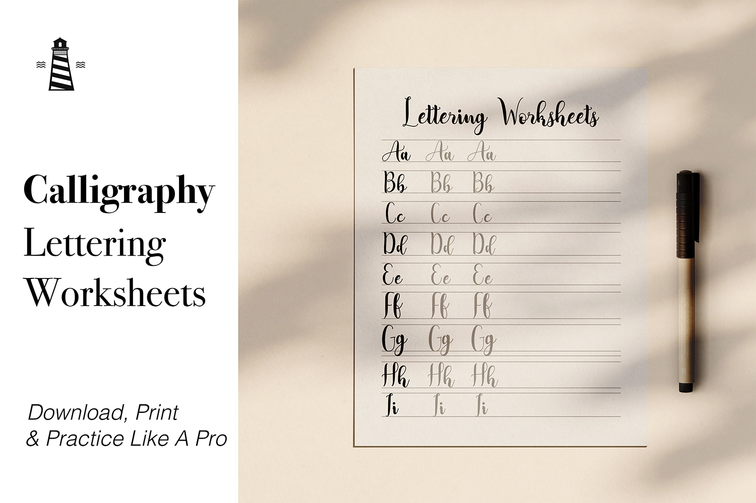 Calligraphy Practice Guide example image 1