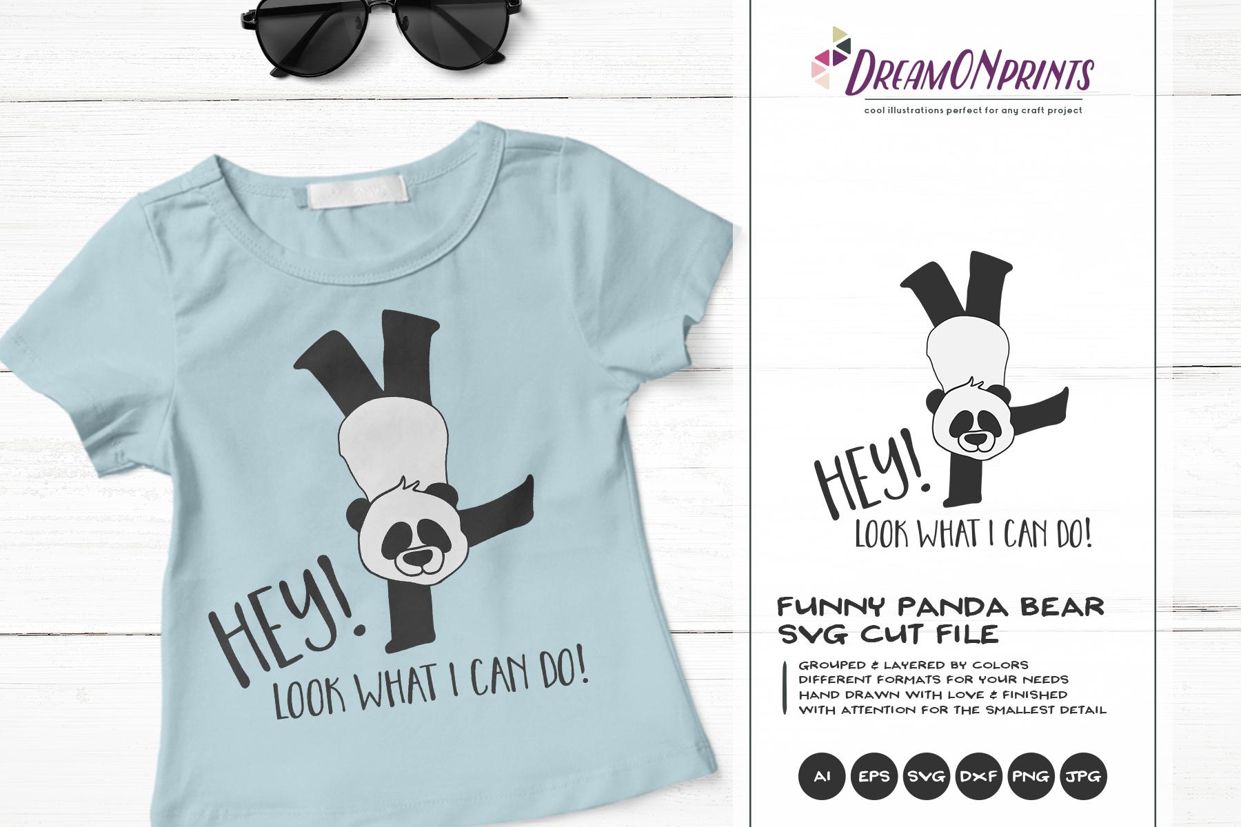 Funny Panda   Panda Bear SVG   Yoga Illustration example image 1