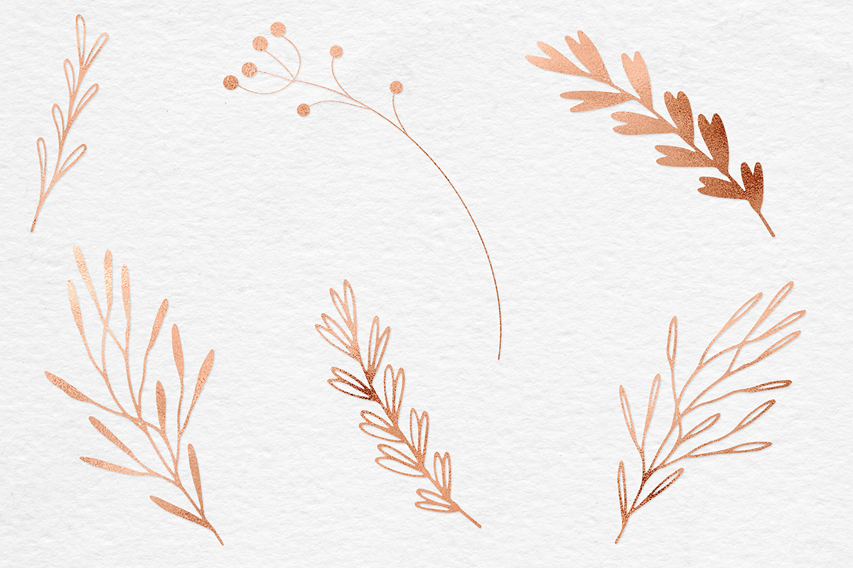 Hand Painted Copper Plants example image 2