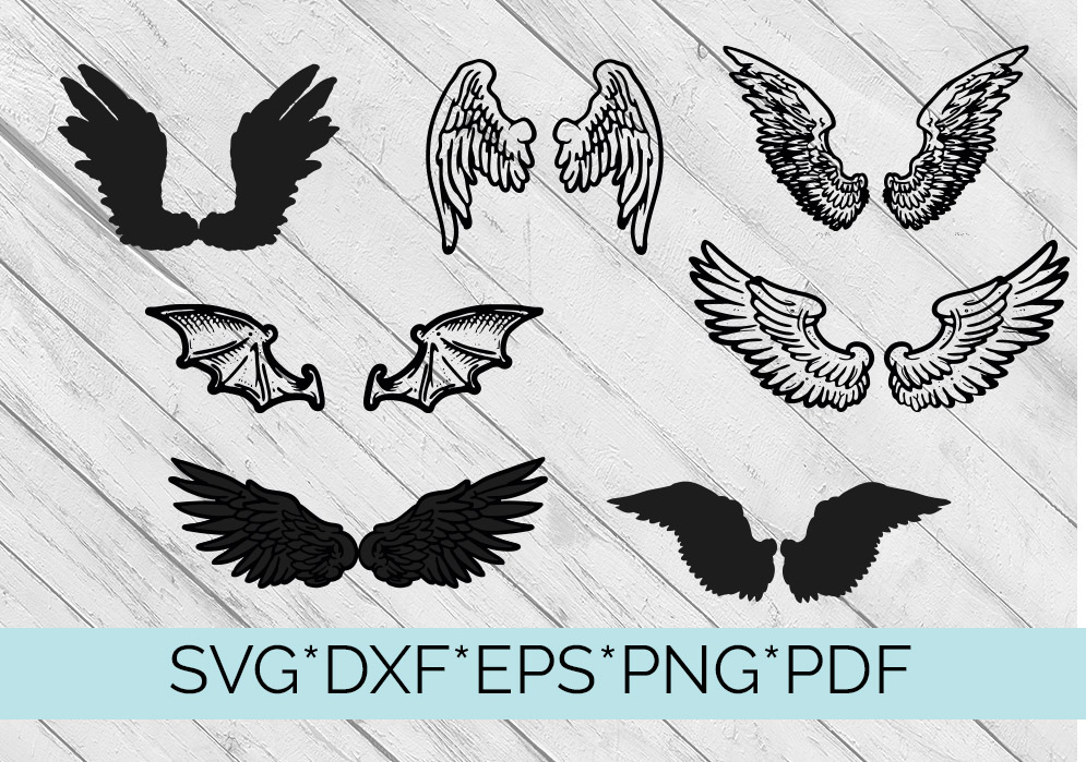 40 Sets of Wings Svg Cutting Files example image 5