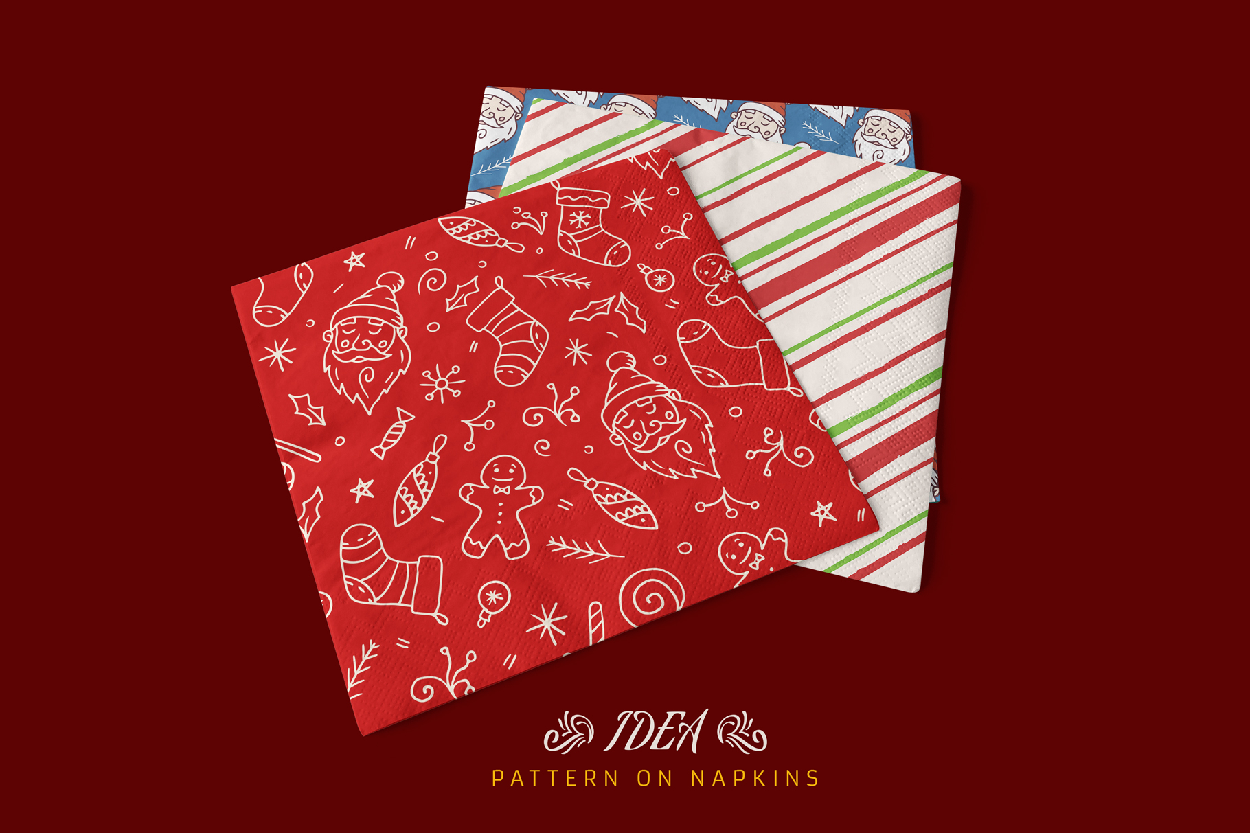 100 Seamless Patterns Vol.4 Christmas example image 16