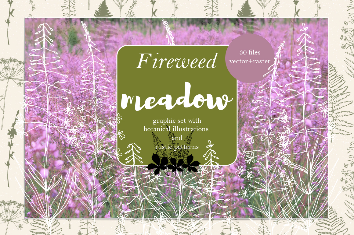 Fireweed meadow set example image 1