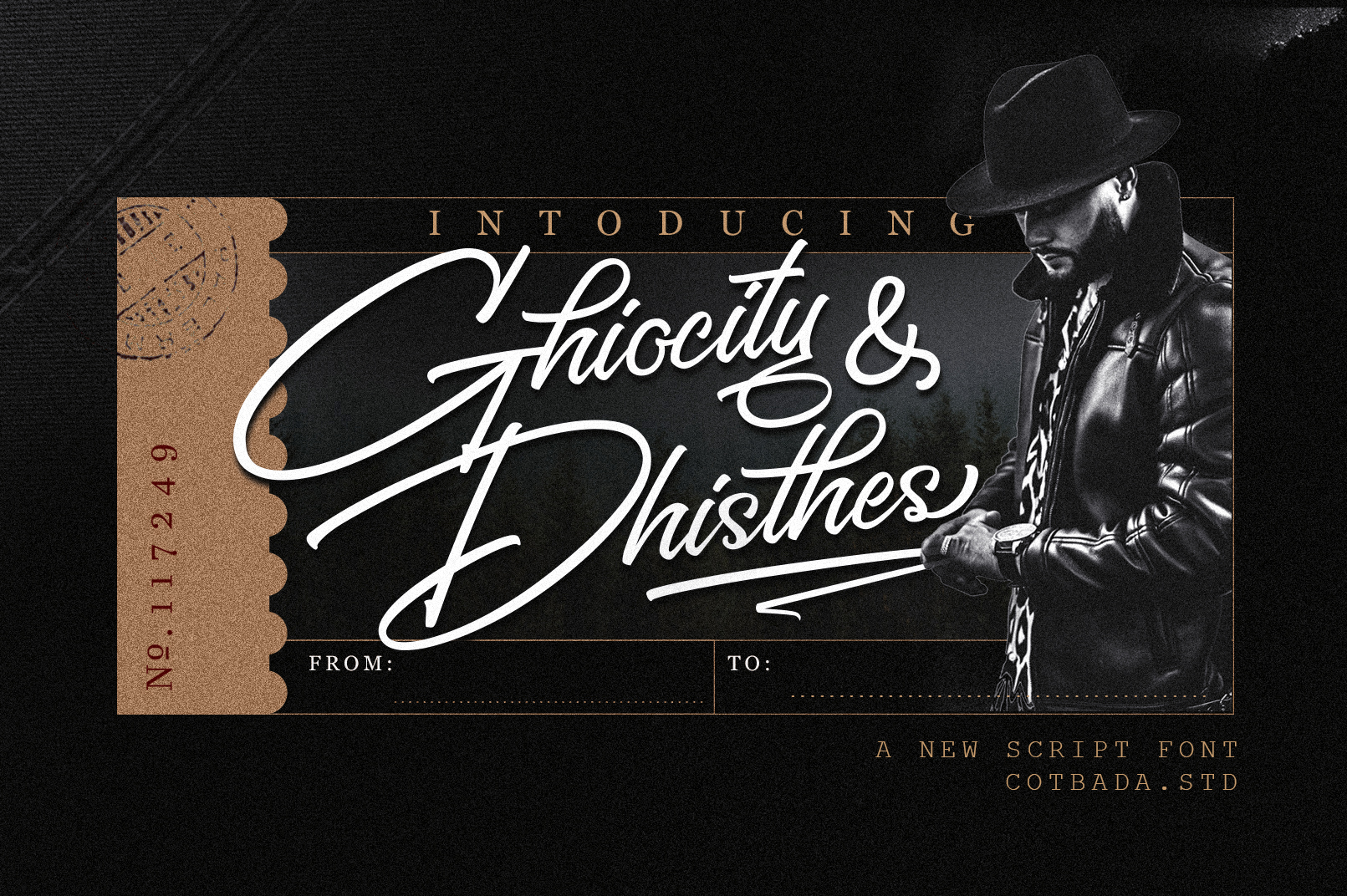 Ghiocity and Dhisthes Font Script example image 1