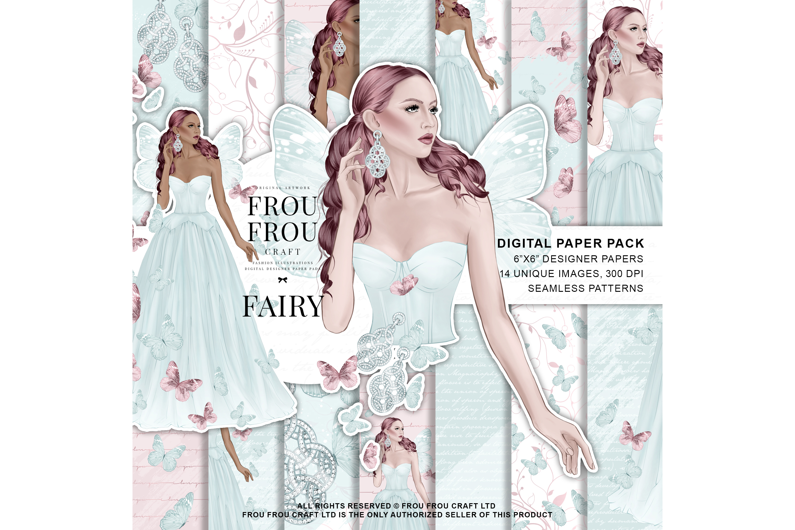 Fairy Tale Princess Butterfly Paper Pack example image 1
