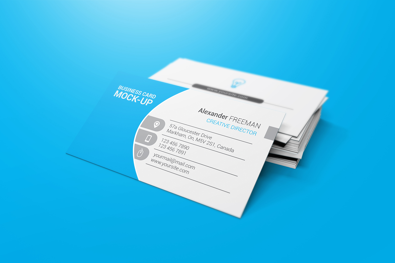 90x50 Business Card Mockups example image 2