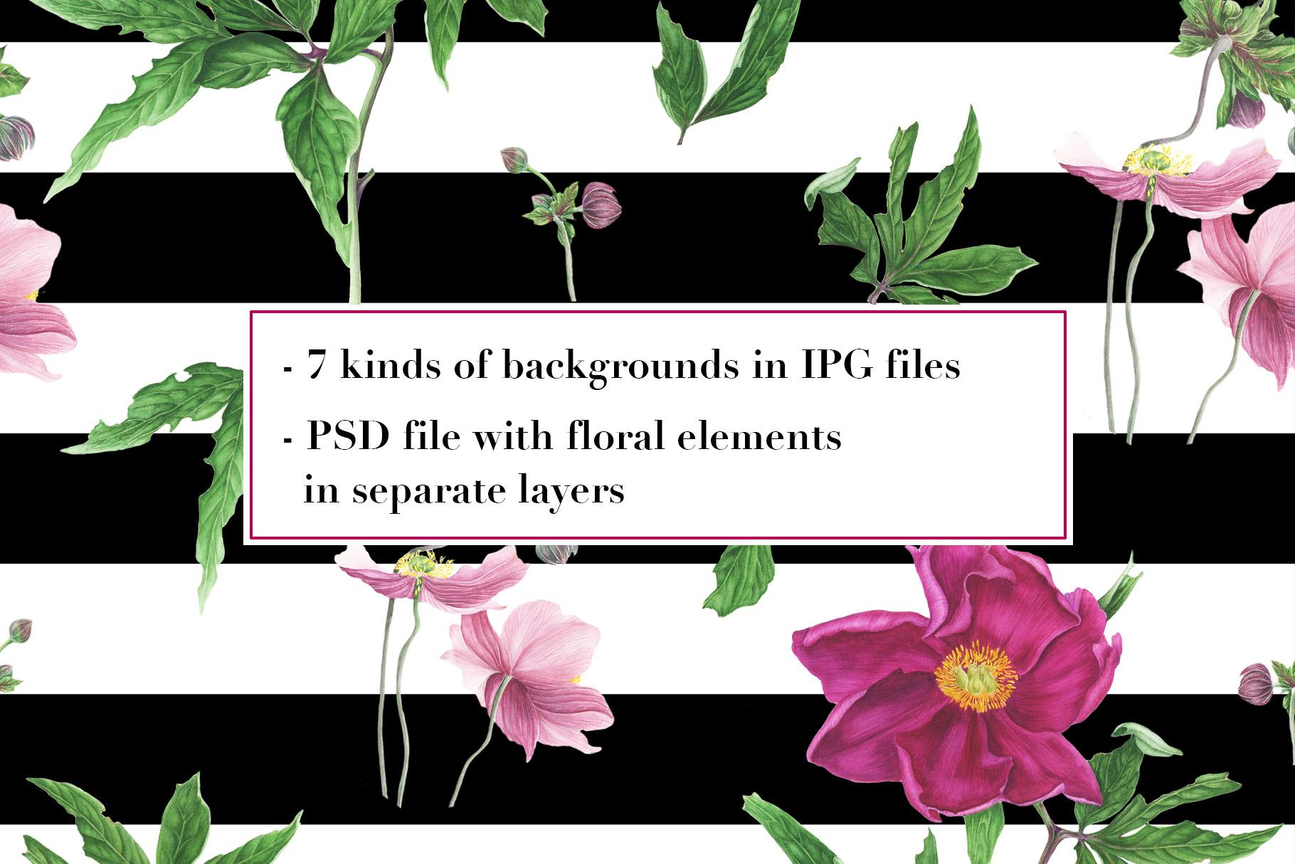 Peonies patterns example image 2