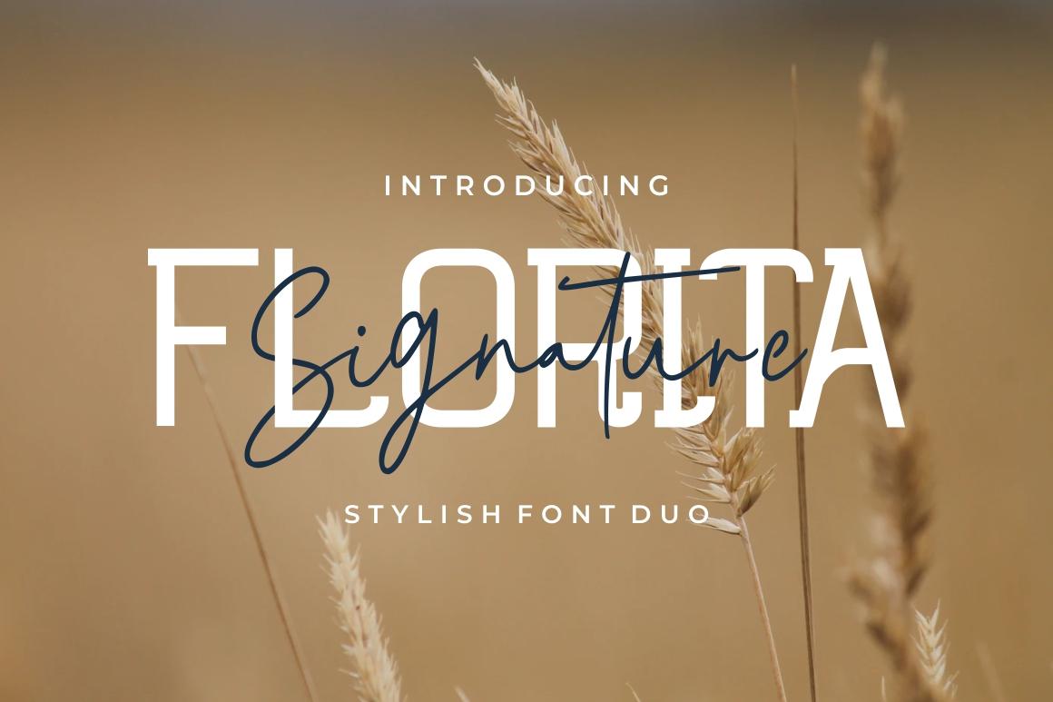 Florita - Font Duo example image 1