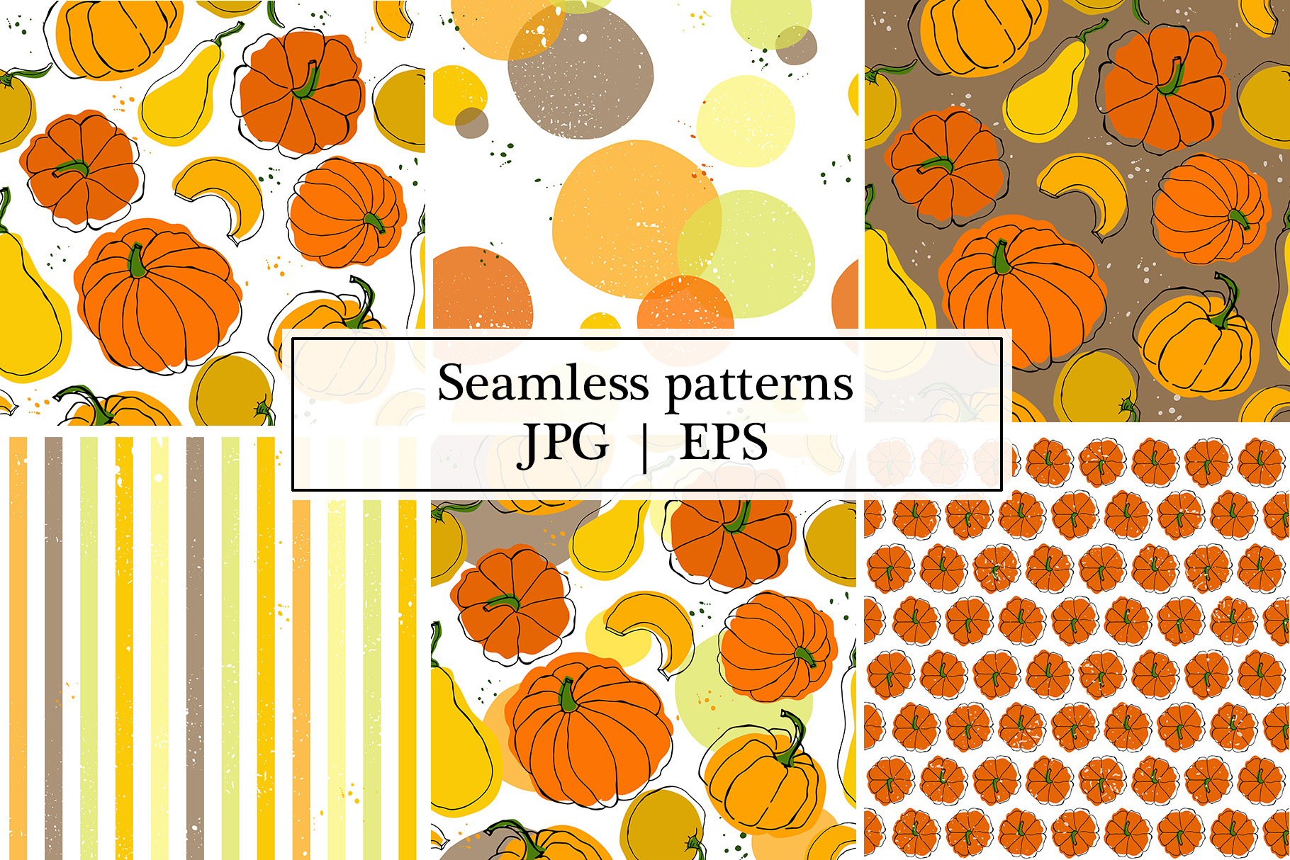 Vector patterns with pumkins example image 2