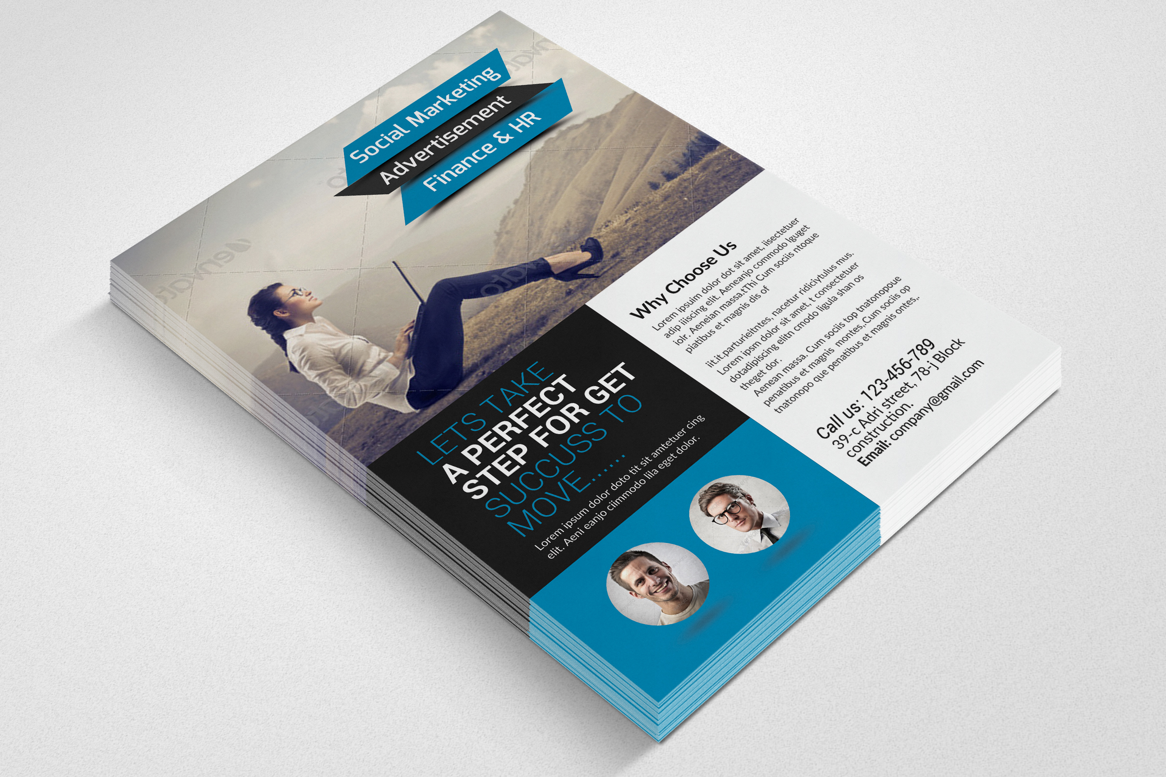 Business Solution Consultant Flyers  example image 3