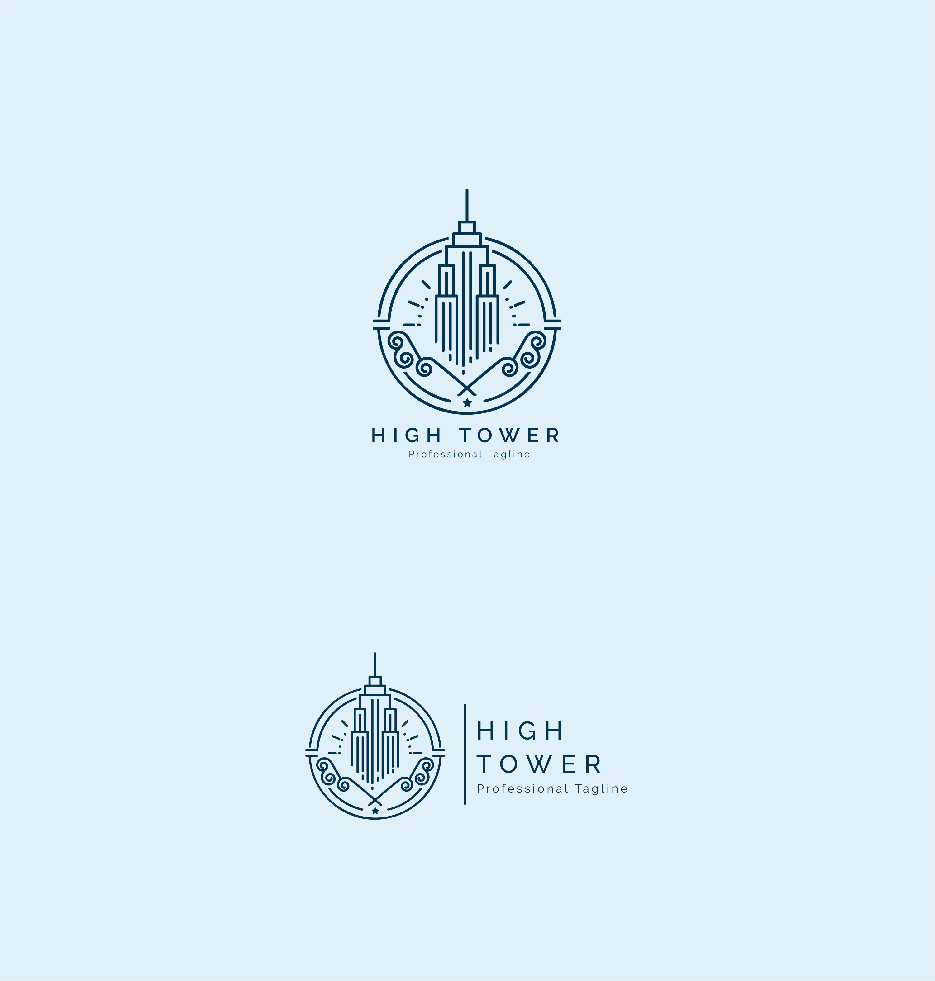 High Tower Logo - Construction Building Logo example image 4