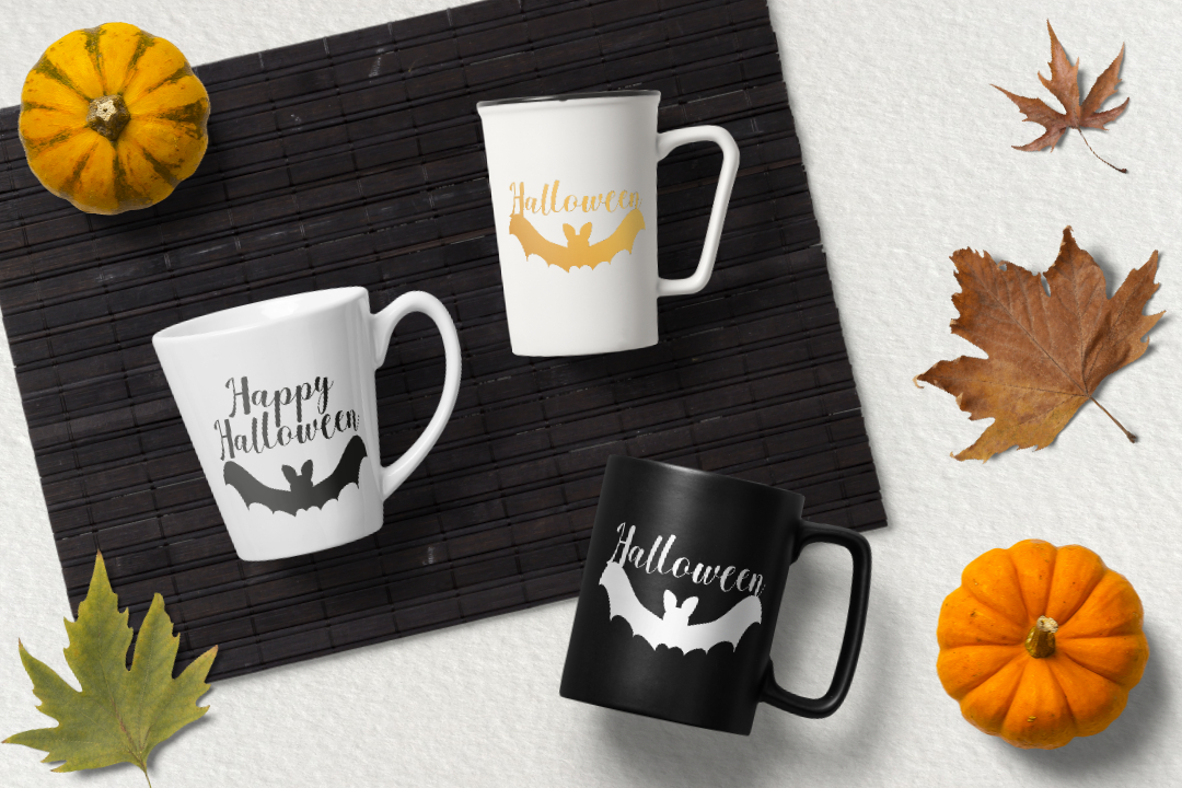 Happy Halloween svg. Bat silhouette cut files example image 2